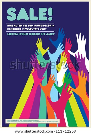 Sale Poster / Background design / Graphics / Layout / Design Template - stock vector