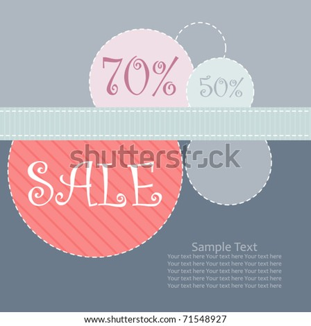 sale poster design template - stock vector