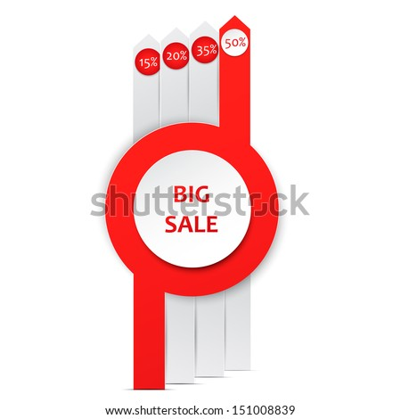 Sale poster design template with percent discount.  - stock vector