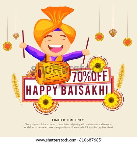 Punjabi culture stock images royalty free images vectors sale poster or sale banner for punjabi festival of baisakhi malvernweather Choice Image