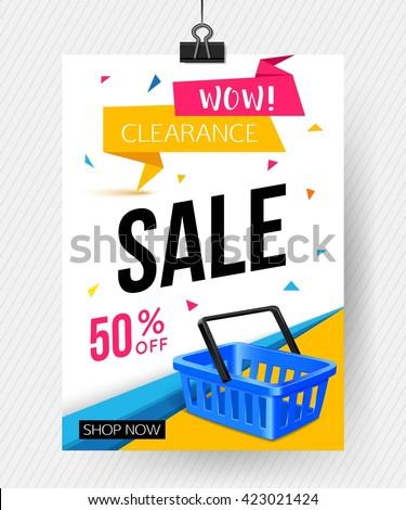 Sale Poster Template Vector Eps 10 Stock-Vektorgrafik 423021424 ...