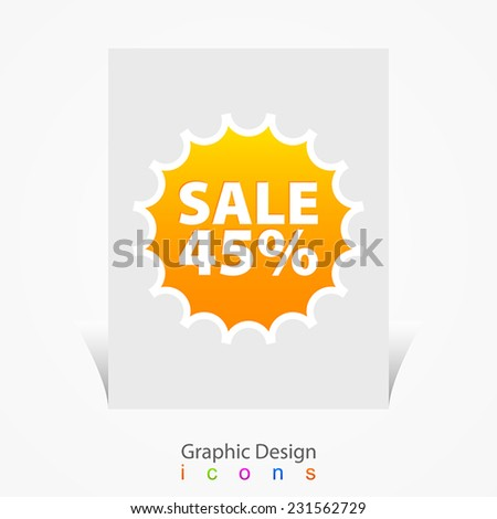 Sale price tag label - stock vector