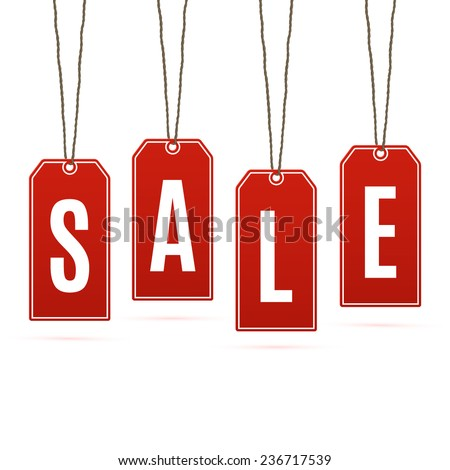 Sale. Price tags isolated on white background. Vector illustration - stock vector