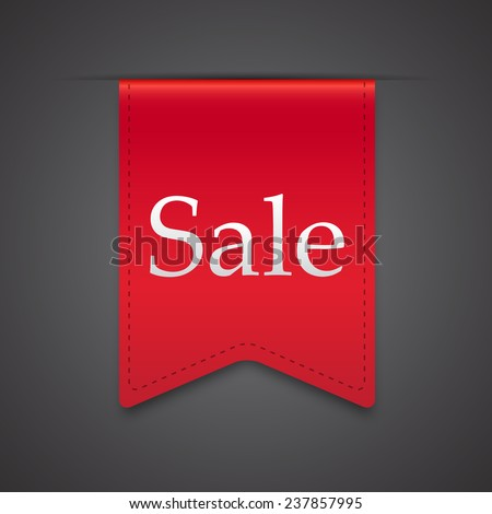 Sale Product Red Label Icon Vector Design. Dark background - stock vector