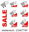Sale Shopping cart - stock vector