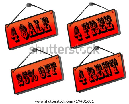 sale sign collection - stock vector