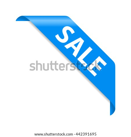Sale sign on blue background - stock vector