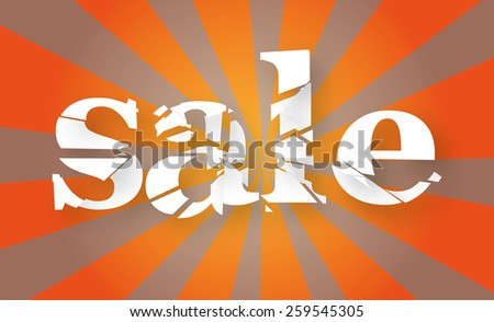 SALE sign orange  - stock vector
