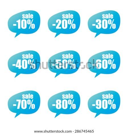Sale Speech Bubbles - stock vector