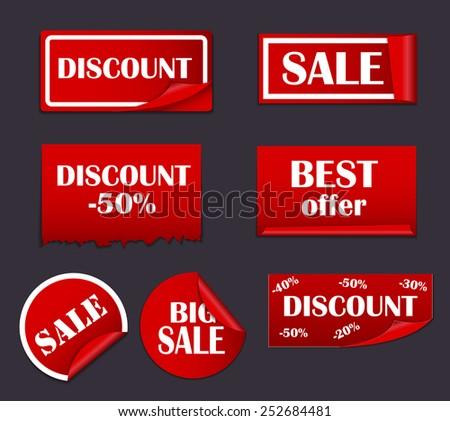Sale Sticker, Banner Template Set Vector Illustration EPS10 - stock vector