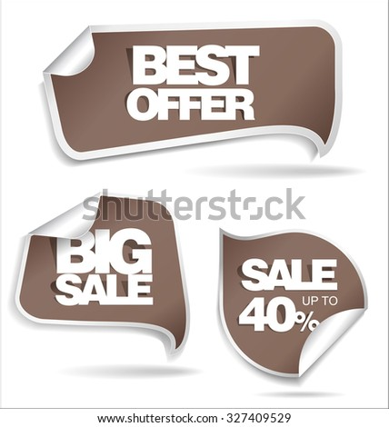 Sale stickers collection - stock vector