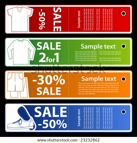 Sale store banners - stock vector