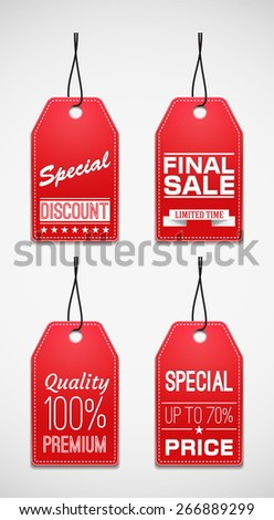 Sale tag. Coupons and discount - stock vector