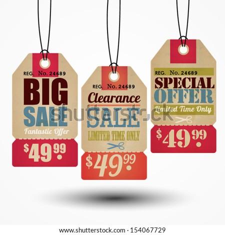 Sale Tag Design - stock vector