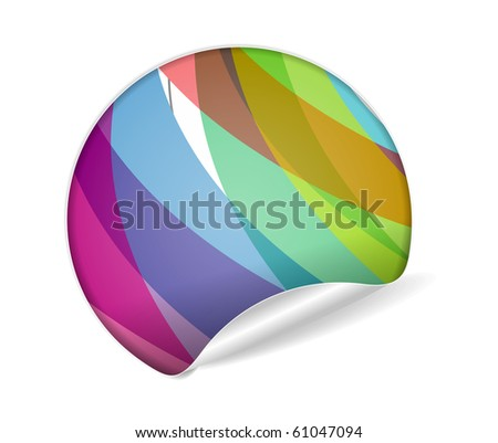 sale tag stickers with fresh design labels, vector illustration - stock vector
