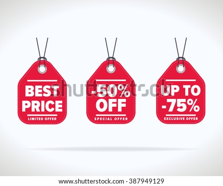 Sale tag. Tag vector. Sale tag isolated. Sale sticker with special advertisement offer. Best price tag. Half price tag. 50% off tag. Advertisement tag. Special offer tag. Template tag. Discount tag. - stock vector