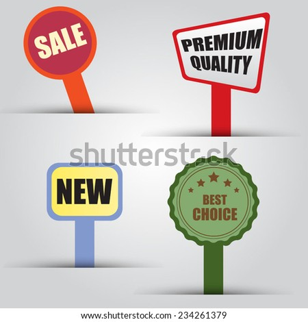 Sale Tags - stock vector