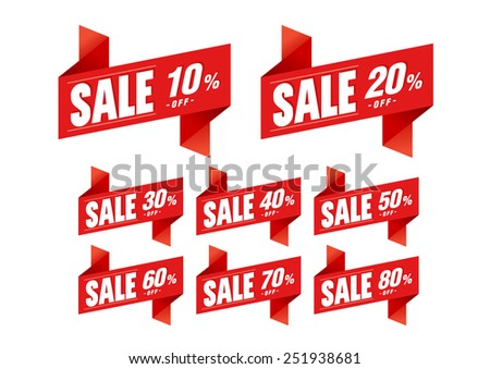 Sale tags discount - Vector - stock vector