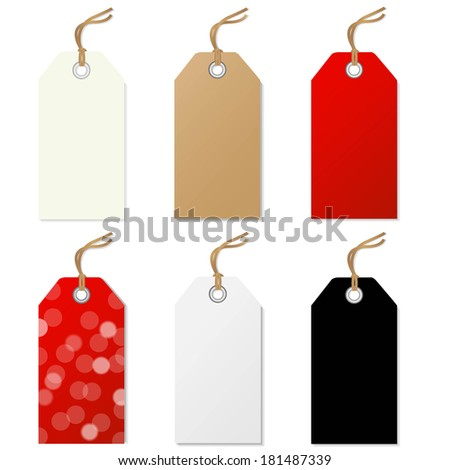 Sale Tags Set, With Gradient Mesh, Vector Illustration - stock vector