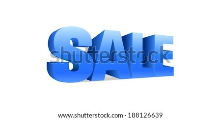 Sale text, vector