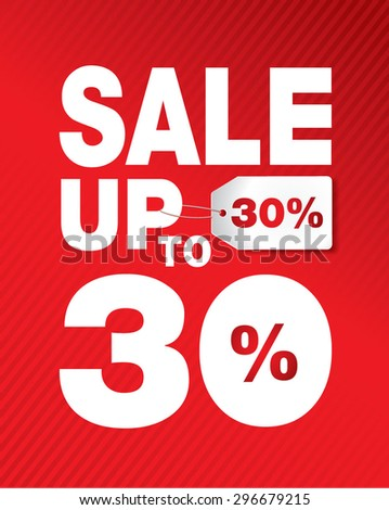 SALE UP TO SET 30% - stock vector