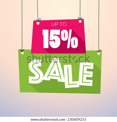 Sale Up to 15% - Vector Poster - stock vector