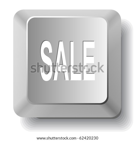 Sale. Vector computer key. - stock vector