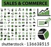 sales & commerce, business, retail, marketing, management, presentation icons, signs set, vector - stock vector