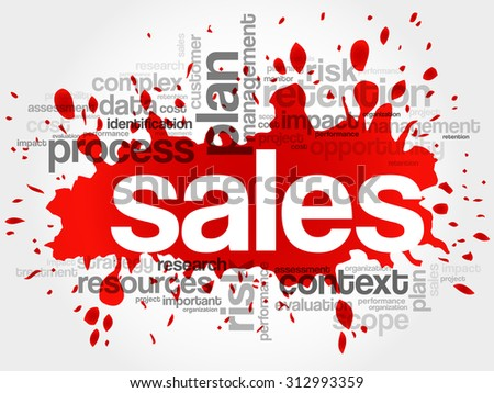 Sales word cloud, business concept - stock vector