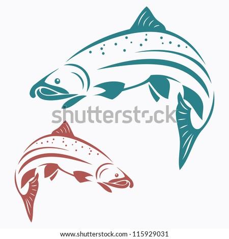 Salmon fish - vector illustration - stock vector