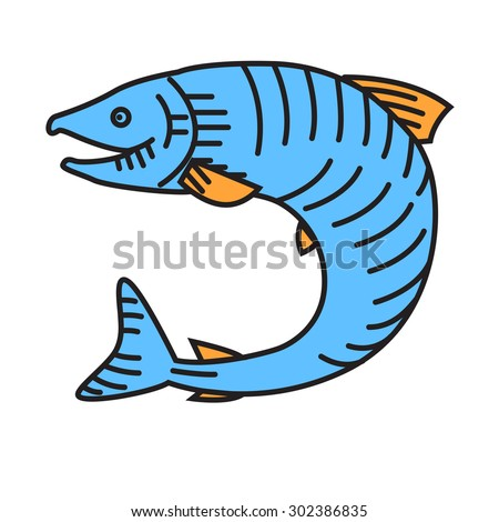 Salmon or fish vector illustration - stock vector