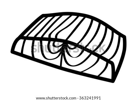 Line Art Of Fish : Salmon steak fish fillet line art stock vector 363241991 shutterstock