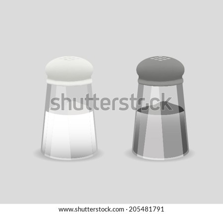 Salt And Pepper - stock vector