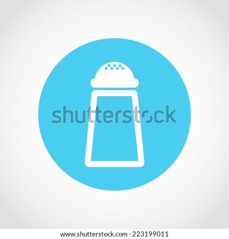 Salt and pepper Icon Isolated on White Background - stock vector