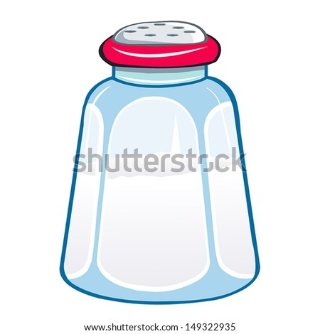 salt shaker isolated illustration on white background - stock vector