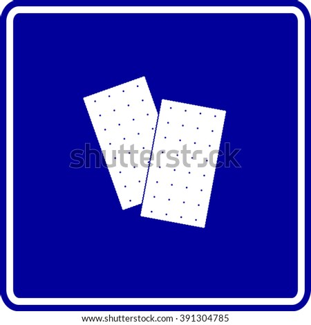 saltine crackers sign - stock vector
