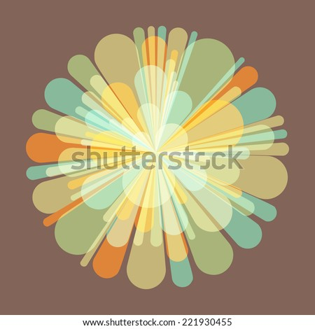 Salute and fireworks. 3d vector Illustration. Celebration card. - stock vector