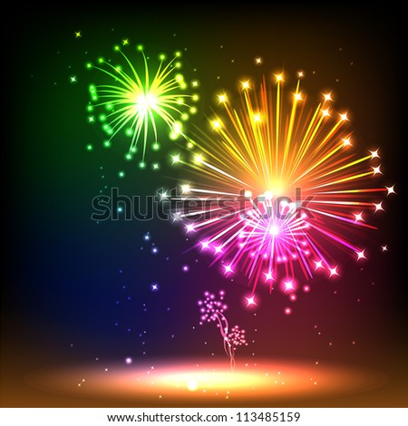 Salute- vector isolated on black background - stock vector