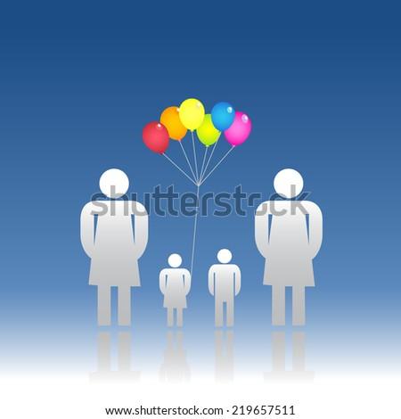 Same sex family - stock vector