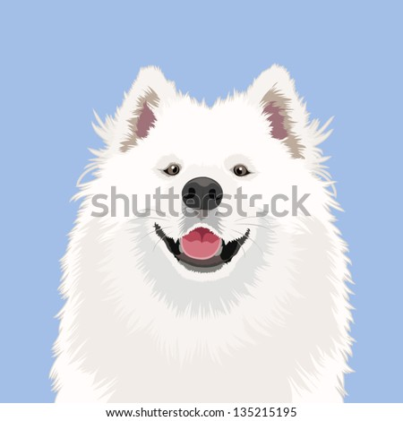 Samoyed, The buddy dog - stock vector