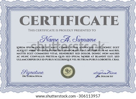 Sample certificate diploma border frameretro design stock vector hd sample certificate or diploma border frametro design with complex background yadclub Image collections