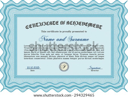 Sample Certificate. With quality background. Vector pattern that is used in money and certificate.Good design.