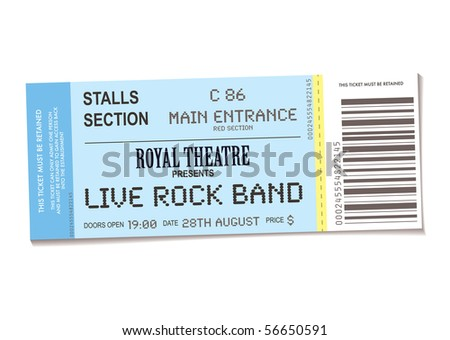 Concert Ticket Outline Sample Concert Ticket With