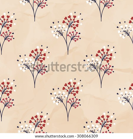 Sample floral background - stock vector