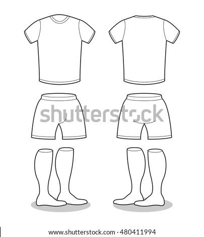 sample sports clothing soccer tshirt shorts stock vector royalty