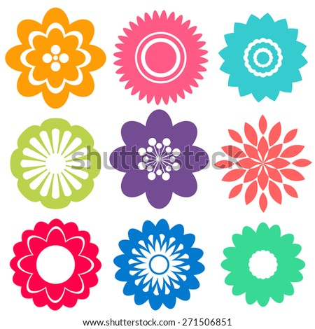 Different patterns flower shape designs stock vector 267173918 sample of flower patterns design altavistaventures Images