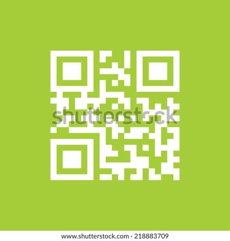 Sample qr code icon - Vector - stock vector