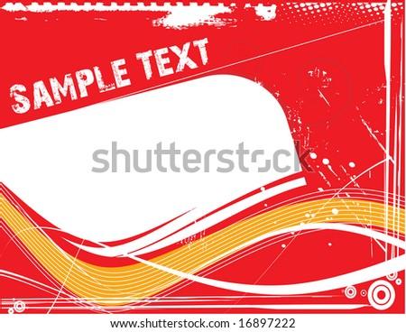 sample text - stock vector