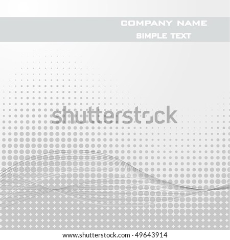 Sample Text - Abstract dots vector background. Halftone. - stock vector
