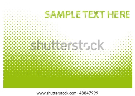 Sample Text Here - Abstract dots vector background. Halftone. - stock vector